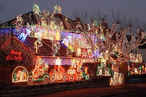 Nothing like over the top Christmas lights!