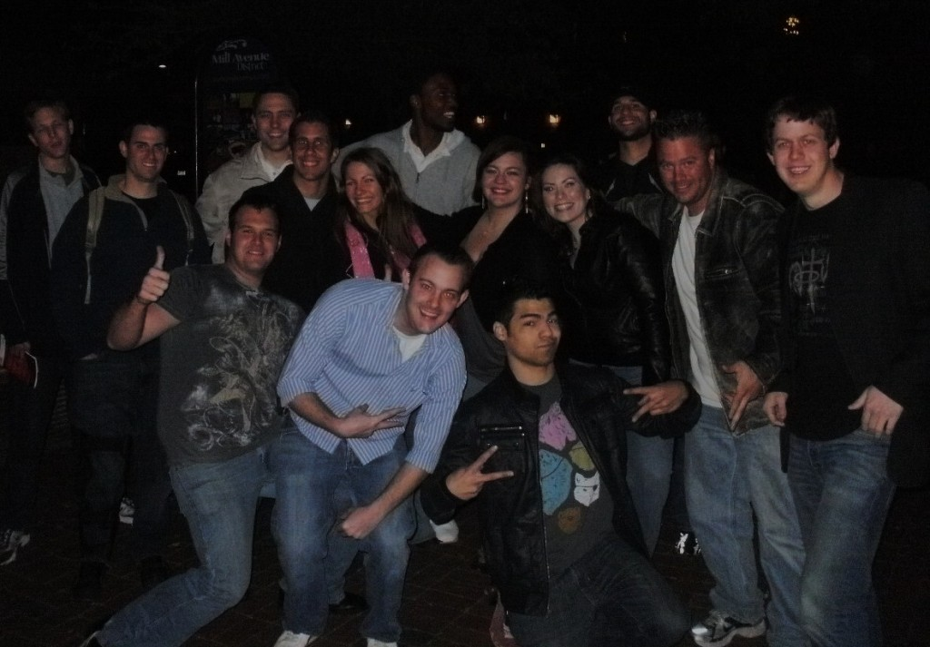 Evangie crew, as well  a few people we witnessed to on Mill Avenue