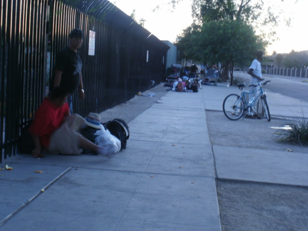 Hundreds of homeless people on the streets of Caz/The Zone in Phoenix